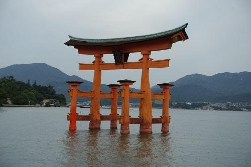宮島 厳島神社 満潮 干潮