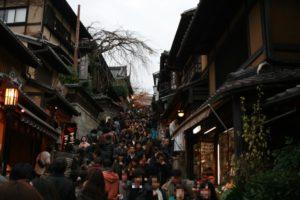 京都 清水寺 紅葉 混雑