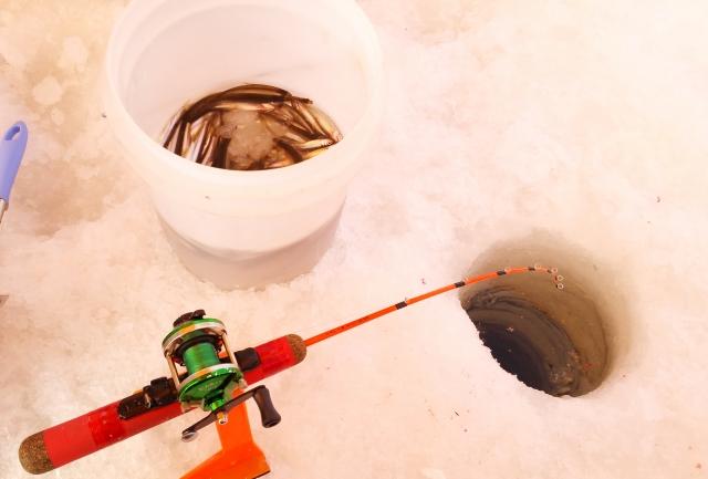 ワカサギ釣り 氷上 服装